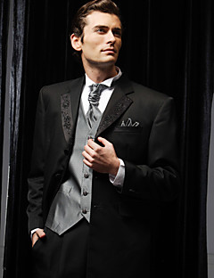 Tuxedos Slim Fit Notch Single Breasted Two-buttons Polyester Solid