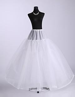 billiga Brudklänningsunderkjol-Bröllop Underklänningar Nylon Golvlång A-linjeformad Underkjol/klänning Balklänning Underkjol med