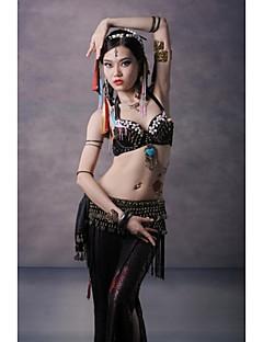 ריקוד בטן חלקים עליונים בגדי ריקוד נשים ביצועים כותנה מתכת מטבעות נחושת