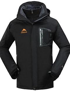 cheap Softshell, Fleece & Hiking Jackets-Cikrilan Men's Hiking 3-in-1 Jackets Outdoor Winter Waterproof Thermal / Warm Breathable Detachable Fleece Winter Jacket Jacket Top