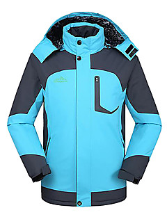 cheap Softshell, Fleece & Hiking Jackets-Men's Ski Jacket Outdoor Winter Waterproof Thermal / Warm Windproof Insulated Breathable Winter Jacket Top Skiing Camping / Hiking