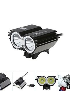 Sykkellykter Frontlys til sykkel sykkel glødelamper LED Lyspærer LED Cree XM-L T6 Sykling Vandtæt 18650 5000 Lumens BatteriSykling Jakt