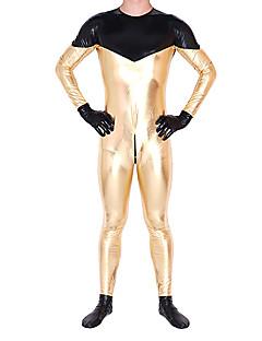 billige Zentai-Zentai Drakter Ninja Zentai Cosplay-kostymer Trykt mønster Trikot / Heldraktskostymer Zentai Skinnende Metallisk Herre Dame Halloween