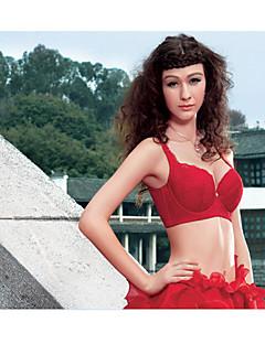 お買い得  ファッションランジェリー-婦人向け 5/8カップ ブラジャーカテゴリー アンダーワイヤーブラジャー プッシュアップ - ソリッド
