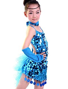 Werden wir Latin Tanzkleider Kinder Performance Polyester Kleid