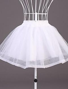 billiga Brudklänningsunderkjol-Bröllop Speciellt Tillfälle Underklänningar Polyester Organza Kort A-linjeformad Underkjol/klänning Med Spets