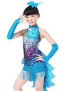 ieftine -costume de dans latin performanțe pentru copii poliester lăcuș de paiete de we we®