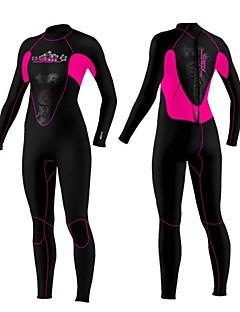 SLINX Dames 3mm Wet Suits Volledig natpak Houd Warm Winddicht Ultra-Violetbestendig Draagbaar YKK Rits Nylon Neopreen Duikpak Lange mouw
