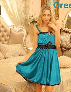 billige Moteundertøy-Dame Store størrelser Sexy Ultrasexy Skjorter og kjoler Nattøy - Lapper, Sløyfe