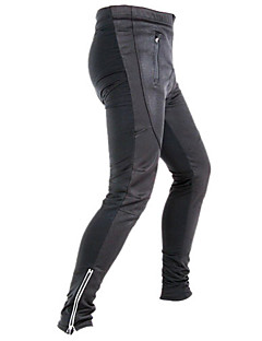 Jaggad Cycling Pants Men's Bike Tights Pants/Trousers/Overtrousers Bottoms Thermal / Warm Quick Dry Breathable Reflective Strips 3D Pad
