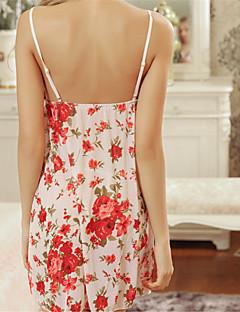 Damen Hemden & Kleider Besonders sexy Nachtwäsche Blumen Organza Lila Rote