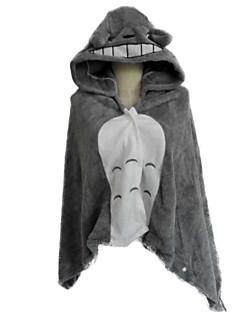 billige Kigurumi-Kigurumi-pysjamas Kat Totoro Onesie-pysjamas Kostume Korallfleece Cosplay Til Voksne Pysjamas med dyremotiv Tegnefilm Halloween Festival