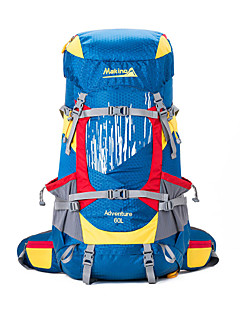 60 L バックパッキング用バックパック ハイキング用デイパック リュックサック キャンピング&ハイキング 登山 レジャースポーツ 旅行 防水 耐久性 Makino