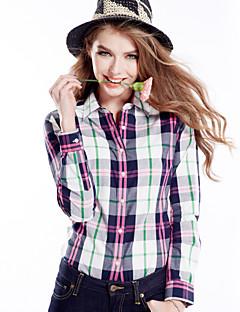 Χαμηλού Κόστους Μπλούζα-Γυναικεία Πουκάμισο Βαμβάκι Τετράγωνο Καρό