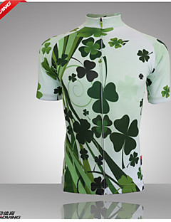 billige Sykkelklær-GETMOVING Dame Kortermet Sykkeljersey - Grønn Sykkel Jersey, Pustende Coolmax®