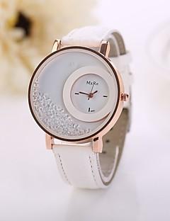 baratos -Mulheres Relógio de Moda Relógios Femininos com Cristais Quartzo imitação de diamante PU Banda Flor Branco Vermelho Rosa Roxa