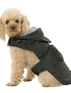 billiga Hundkläder-Hund Regnjacka Hundkläder Enfärgad Svart Röd Blå Nylon Kostym För husdjur Herr Dam Vattentät