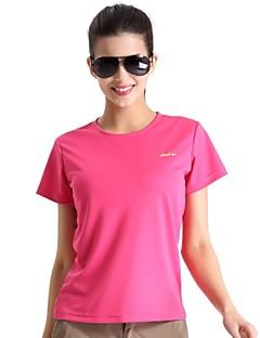 Damen T-Shirt für Wanderer Rasche Trocknung Atmungsaktiv Leichtes Material Antibakteriell Außen T-shirt Oberteile für Camping & Wandern