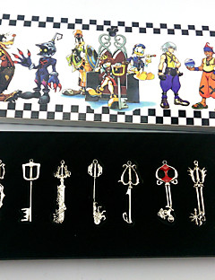 cheap -Cosplay Accessories Inspired by Kingdom Hearts Cosplay Anime/ Video Games Cosplay Accessories Keychain Golden / Silver Alloy Female