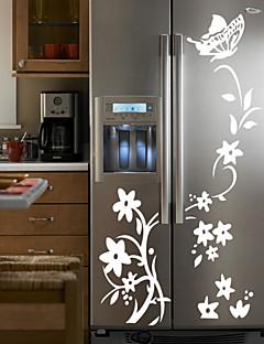 preiswerte Botanische Wandsticker-Formen Blumen Cartoon Design Botanisch Wand-Sticker Flugzeug-Wand Sticker Kühlschrank Sticker, Vinyl Haus Dekoration Wandtattoo Wand