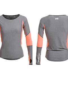 女性用 ランニングTシャツ 長袖 速乾性 透湿性 高通気性 モイスチャーコントロール Tシャツ トップス のために ヨガ ピラティス エクササイズ&フィットネス ランニング エラステイン ナイロン グレー S M L
