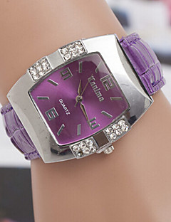 baratos -Mulheres Relógio de Moda Quartzo Couro Banda Preta Azul Rosa Roxa