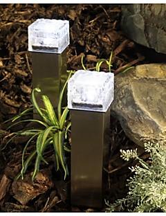 billige Lampestolper-solenergi ledet bakken krystall glass isen murstein form hvit utendørs verftet hage dekk road banen lys