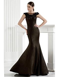 Trompet / Deniz Kızı Yere Kadar Örgü Resmi Akşam Elbise ile Aplik tarafından TS Couture®