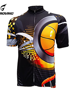 82b455a5b GETMOVING Men s Women s Short Sleeve Cycling Jersey - Black Stripe Classic Bike  Jersey Top Breathable Quick Dry Ultraviolet Resistant Sports Polyester ...
