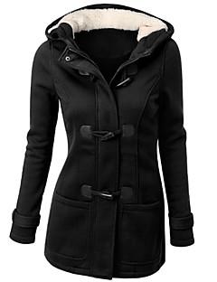 levne Dámské kabáty a trenčkoty-Dámské Jednobarevné Kabát Základní