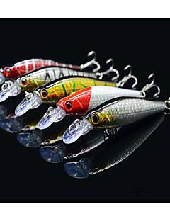 お買い得  フィッシング-5 個 ハードベイト ミノウ ルアーパック ルアー ルアーパック ミノウ ハードベイト 硬質プラスチック 海釣り ベイトキャスティング 川釣り 流し釣り/船釣り ルアー釣り バス釣り