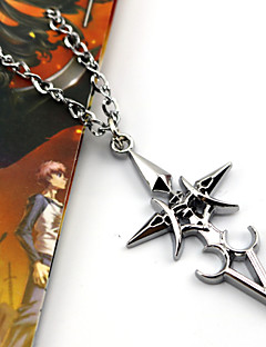 cheap -Jewelry Inspired by Fate/stay night Saber Anime/ Video Games Cosplay Accessories Necklace Silver Alloy / Resin Female