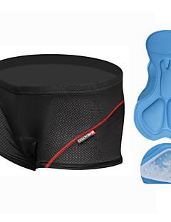 baratos Roupas Intimas & Térmicas para Ciclismo-Realtoo Homens Cueca Boxer Acolchoada Moto Shorts Roupa interior / Shorts Acolchoados / Calças Tapete 3D, Respirável Sólido, Clássico,