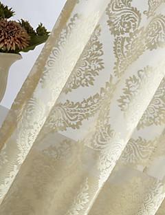 baratos Coleções de Janela-Um Painel Rústico / Moderno / Neoclassicismo / Europeu / Designer Floral / Botânico Marfim Quarto Poliéster Sheer Curtains Shades