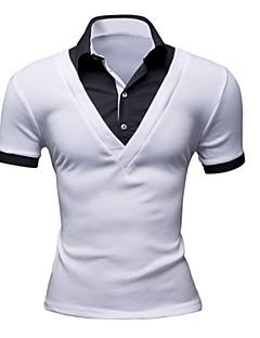 メンズ カジュアル/普段着 ワーク Polo ソリッド その他 半袖