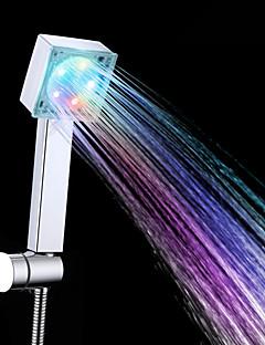 Contemporâneo Ducha de Mão Cromado Característica for  LED / Efeito Chuva , Lavar a cabeça