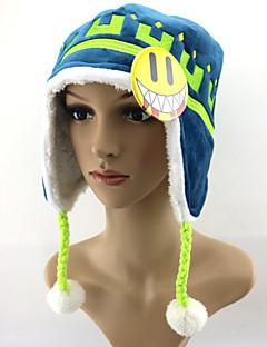 Hatt/Lue Inspirert av Dramatical Murder Noiz Anime Cosplay Tilbehør Hatt Blå Mikrofiber / Polar Fleece Mann