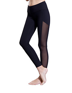 Queen Yoga Women's Running Tights Gym Leggings Breathable Compression Lightweight Materials Stretch Sweat-wicking 3/4 Tights Bottoms for