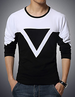 Men's Casual Spell Color Triangle T-Shirts