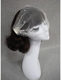 Závoje Jedna vrstva Svatební kloboučky Oříznutý okraj Tyl Bílá Slonová kost