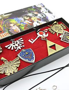 Smykker Inspirert av The Legend of Zelda Cosplay Anime / Videospil Cosplay Tilbehør Halskjede / Brosje Sølv Legering Mann / Kvinnelig