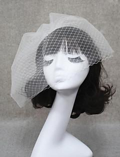 ウェディングベール 2段 ヘッドドレス・ベール 短髪用ベール カットエッジ 11.81で(30cm)の チュール ホワイト アイボリー