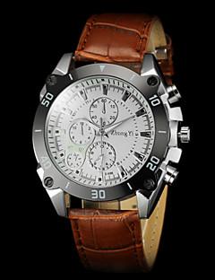 Pánské Náramkové hodinky Křemenný PU Kapela Černá Hnědá Bílá Černá Hnědá