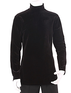 cheap New Arrivals-Latin Dance Tops Men's Training Velvet Draping Long Sleeves Top
