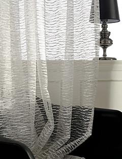 baratos Cortinas Transparentes-Barra no Interior Anéis Presilhas Duplo Plissado Único Plissado Dois Painéis Tratamento janela Barroco Europeu Designer Regional Modern