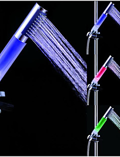 Contemporâneo Ducha de Mão Cromado Característica for  LED , Lavar a cabeça
