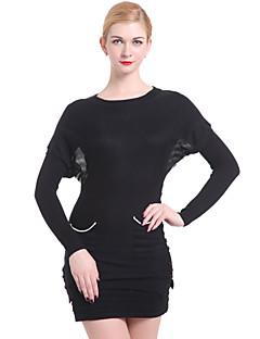 billige Lagersalg-Dame Fritid Pullover - Stripet, Ren Farge