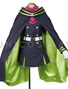 cheap Anime Costumes-Seraph of the End Owari No Serafu Shinoa Hiragi Outfit Uniform Dress Cloak Cosplay Costume