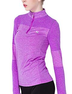 ヨガ Tシャツ トップス 高通気性 ソフト 高伸縮性 モイスチャーコントロール 伸縮性 スポーツウェア ヨガ ピラティス エクササイズ&フィットネス ランニング 女性用