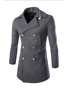 Men's Casual/Daily Casual Winter Fall Coat